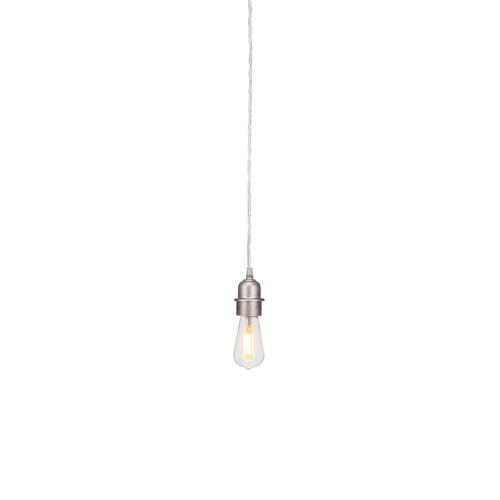 Vintage Aged Silver Two-Inch LED Cord Mini Pendant