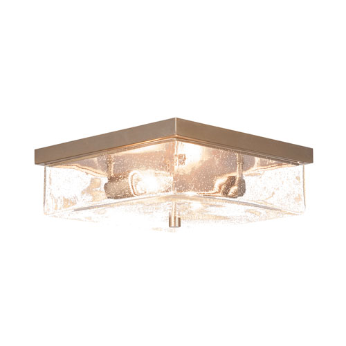 Nouvelle New Age Brass 13-Inch Two-Light Semi-Flush