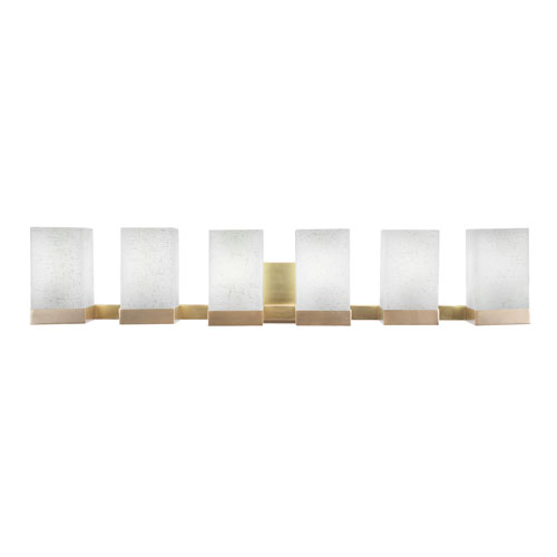 Nouvelle New Age Brass 37-Inch Six-Light Bath Vanity