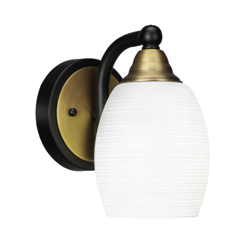 Paramount Matte Black and Brass Five-Inch One-Light Wall Sconce