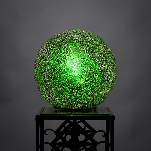 Fusion Green  Eight-Inch One-Light Table Lamp