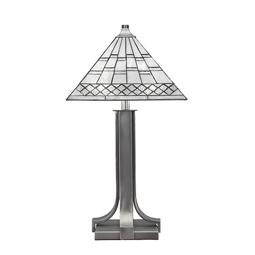 Apollo Graphite 14-Inch Two-Light Table Lamp