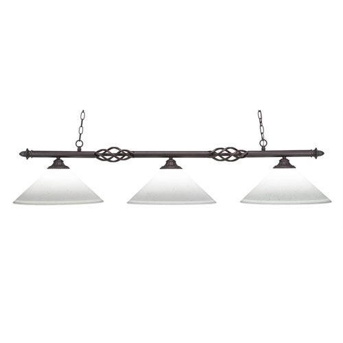 Toltec Lighting Eleganté Dark Granite Three-Light Island Pendant