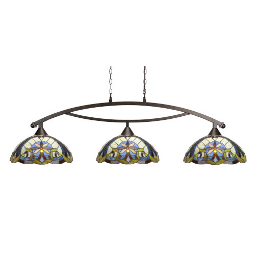 Bow Bronze 61-Inch Three-Light Island Chandelier