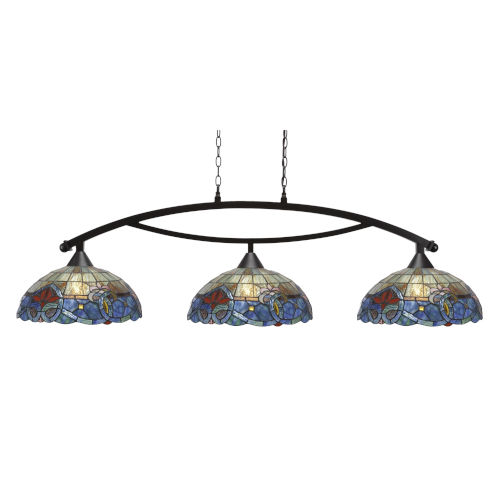 Bow Dark Granite 61-Inch Three-Light Island Chandelier