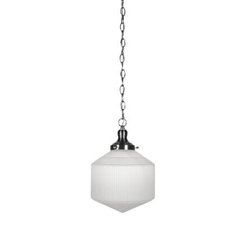 Carina Brushed Nickel 10-Inch One-Light Pendant with Opal Frosted Glass Shade