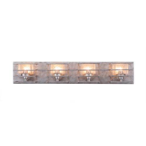 Sky Loft Aged Silver Four-Light 28-Inch Bath Bar