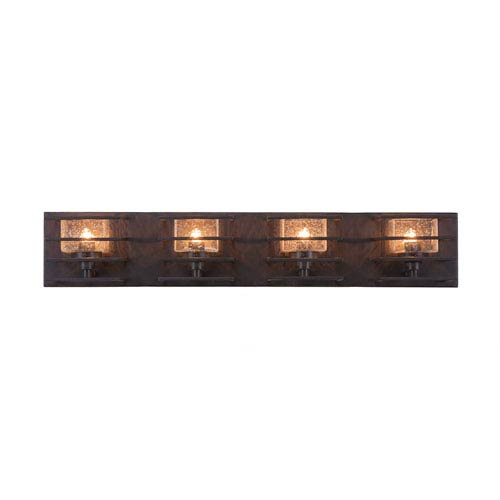 Sky Loft Dark Granite Four-Light 28-Inch Bath Bar