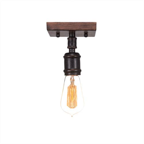 Portland Oil Rubbed Bronze One-Light Semi-Flush Mount with