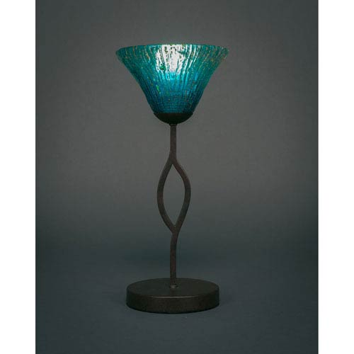 Toltec Lighting Revo Dark Granite One Light Mini Table Lamp With