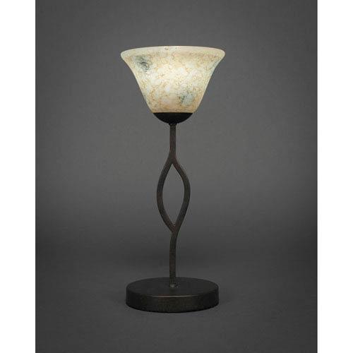 Revo Dark Granite One-Light Mini Table Lamp with Italian Marble Glass