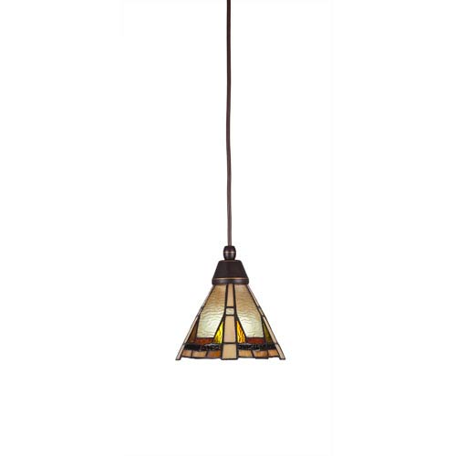 Zion Dark Granite One-Light Mini Pendant