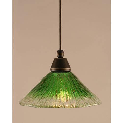 Green mini pendant lighting free shipping bellacor dark granite cord mini pendant with kiwi green crystal glass aloadofball Images