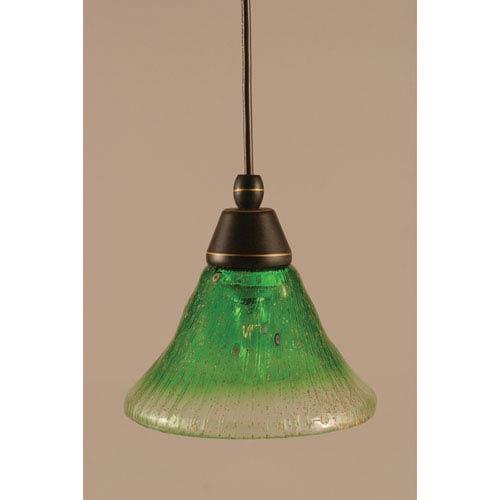 Green mini pendant lighting free shipping bellacor dark granite cord mini pendant with kiwi green crystal glass aloadofball Choice Image