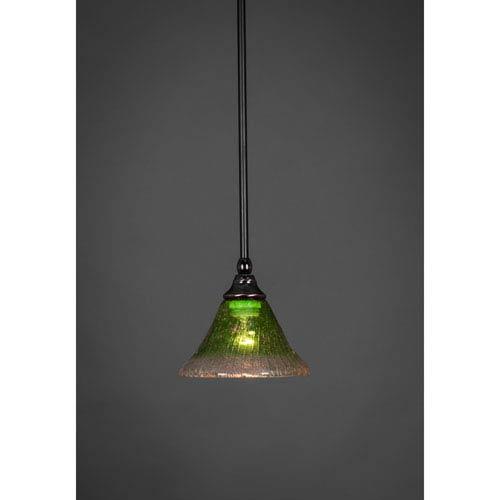 Black Copper Stem Mini Pendant with Kiwi Green Crystal Glass