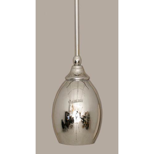 Chrome 5-Inch One Light Mini Pendant with Chrome Cone Metal Shade