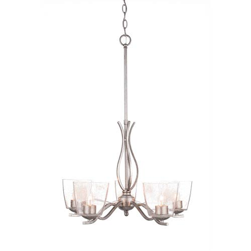 Bubble light chandelier bellacor toltec lighting revo aged silver five light chandelier with clear bubble glass aloadofball Image collections