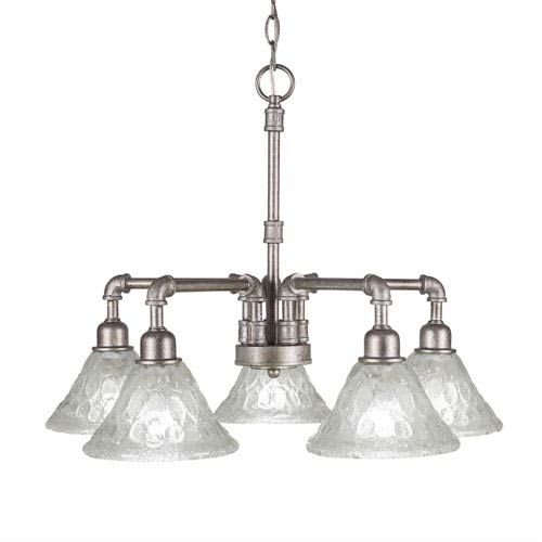 Toltec lighting vintage aged silver five light chandelier with toltec lighting vintage aged silver five light chandelier with italian bubble glass aloadofball Image collections