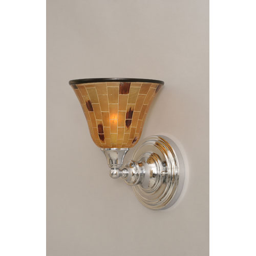 Chrome Wall Sconce with Penshell Resin shade
