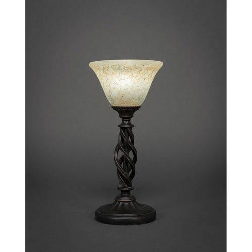 Elegante Dark Granite Mini Table Lamp with Italian Marble Glass