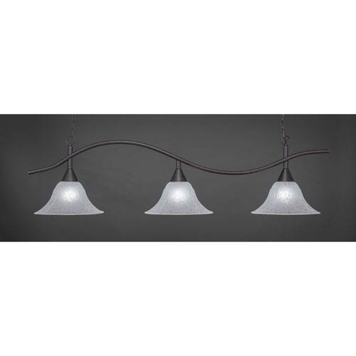 Swoop Dark Granite Billiard Light with Italian Marble Glass