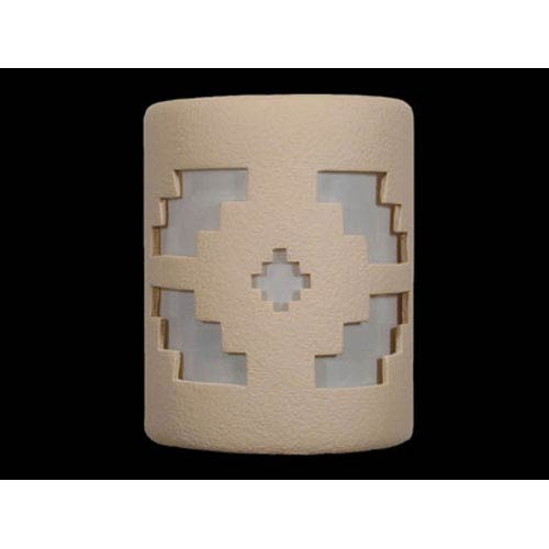 Tan 9-Inch Wall Sconce with Ventana Cutout Design