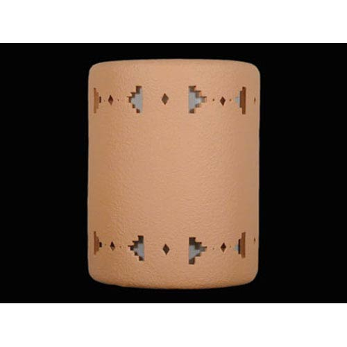Apricot 9-Inch Wall Sconce with Sandia Border Cutout Design
