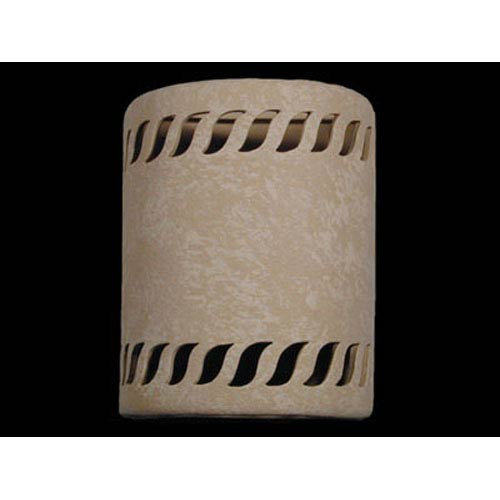 Tan 9-Inch Wall Sconce with Rope Border Cutout Design