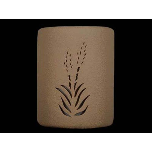 Tan 9-Inch Dark Sky Outdoor Wall Mount with Yucca Center Cutout Design