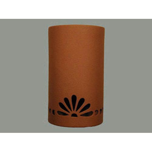 Terracotta lighting bellacor cds lighting studio terracotta 14 inch wall sconce with fan and bullets border cutout design aloadofball Image collections