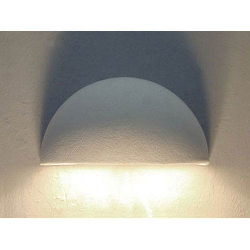 Cds Lighting Studio Unfinished Bisque Small Bowl Downlight Wall Sconce