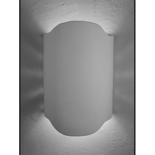Unfinished Bisque Arched Handcut Double Terior Socket Wall Sconce