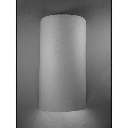 Unfinished Bisque Half Round Closed Top Wall Sconce