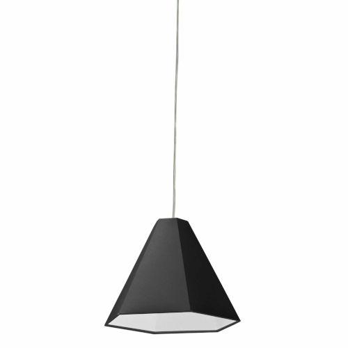 Black One-Light Pendant