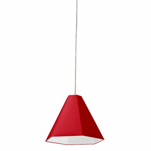 Red One-Light Pendant