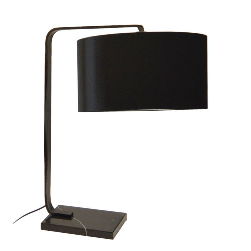Black 19-Inch One-Light Table Lamp