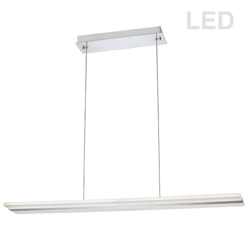 Polished Chrome with Frosted White Two-Light LED Pendant