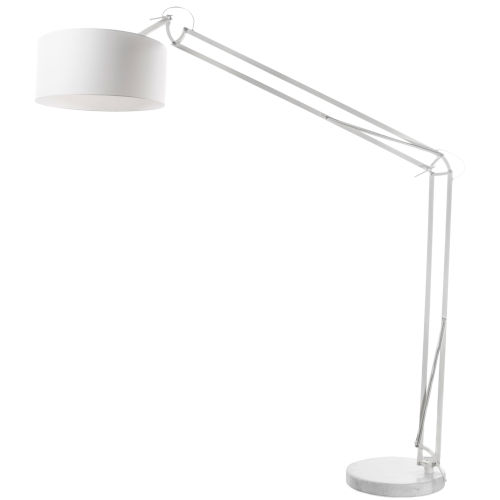 White One-Light Floor Lamp