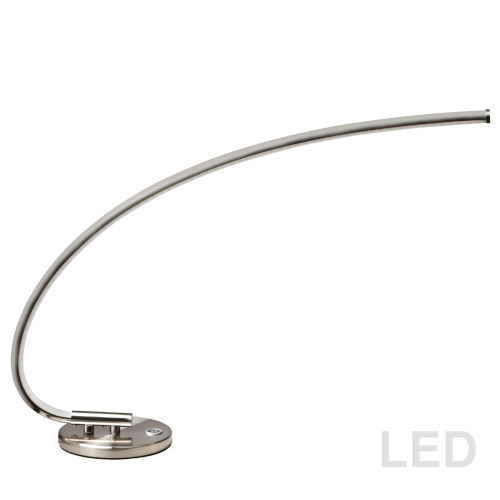 Satin Chrome 24-Inch LED Desk Lamp