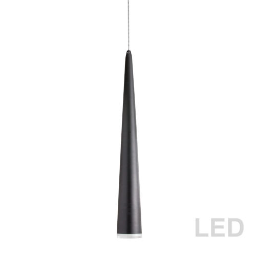 Matte Black with Clear 24-Inch LED Mini Pendant