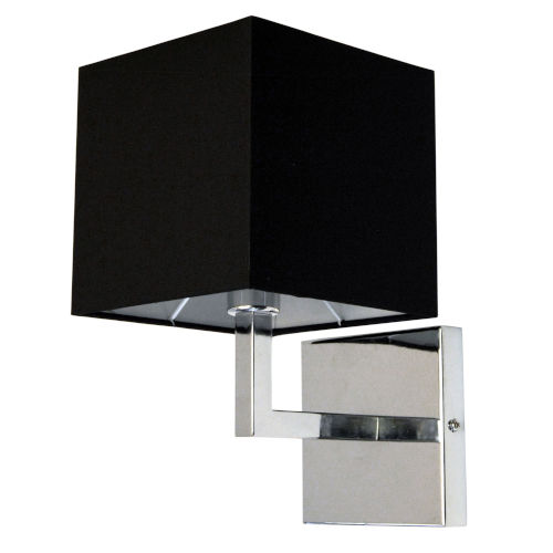 Polished Chrome with Black One-Light Wall Sconce