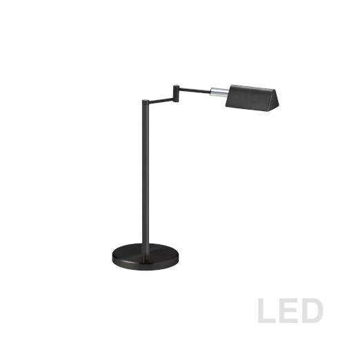 Black with Polished Chrome 21-Inch LED Desk Lamp