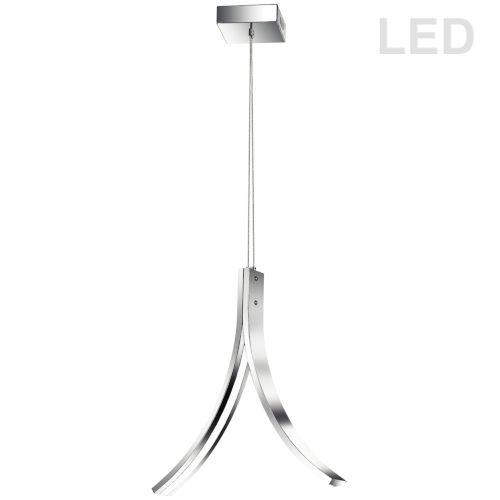 Alison Polished Chrome 15-Inch Two-Light LED Pendant