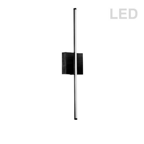 Array Matte Black 25-Inch Vertical LED Wall Sconce