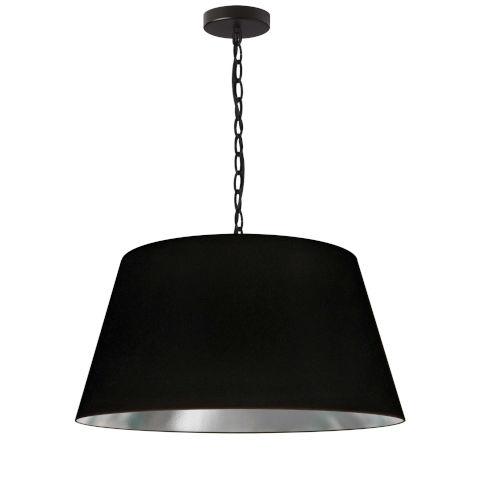Brynn Black Silver 20-Inch One-Light Pendant