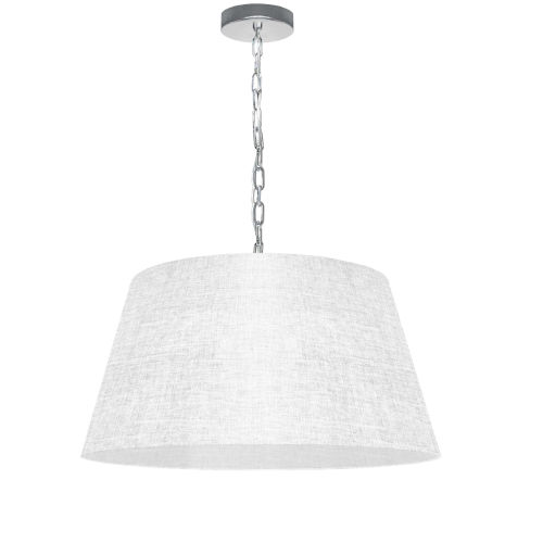 Brynn White with Polished Chrome 20-Inch One-Light Pendant with Clear Shade