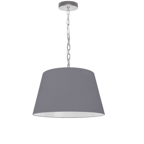 Brynn Gray with Polished Chrome 14-Inch One-Light Pendant