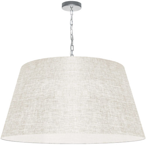 Brynn Cream with Polished Chrome 32-Inch One-Light Pendant