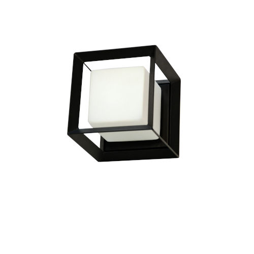 Beatrice Matte Black with Opal White One-Light Wall Sconce