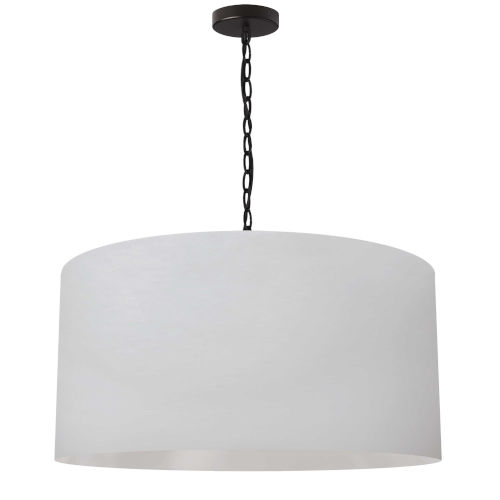 Braxton Black and White One-Light Large Pendant